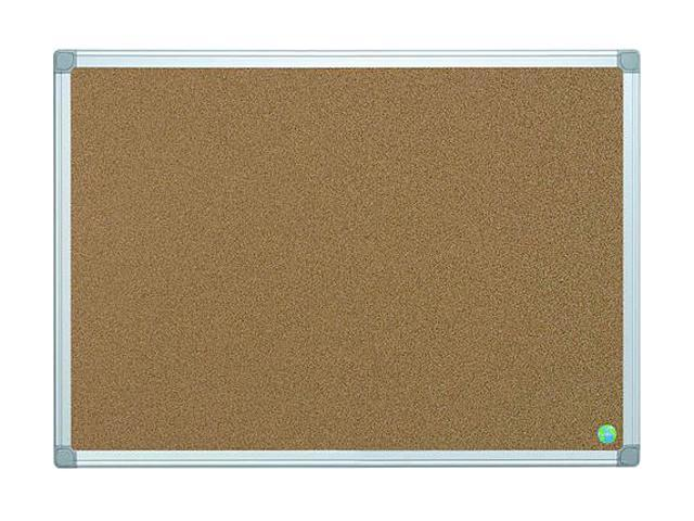 Bi-Silque Earth-It Cork Board, 36 x 48, Aluminum Frame