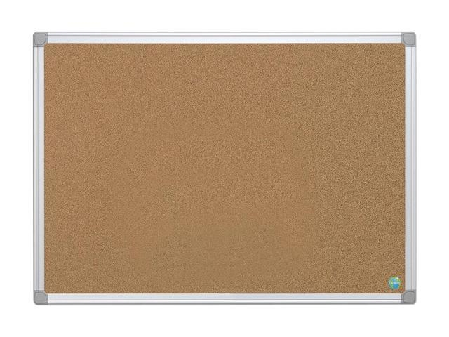 Bi-Silque Earth-It Cork Board, 24 x 36, Aluminum Frame