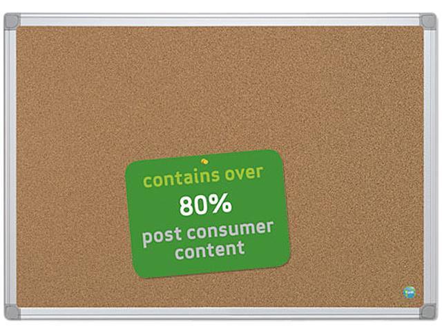 Bi-Silque CA031790 Earth-It Cork Board, 24 x 36, Aluminum Frame
