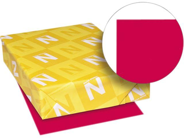 Wausau Paper 22553 Astrobrights Colored Paper, 24lb, 11 x 17, Re-Entry Red, 500 Sheets/Ream