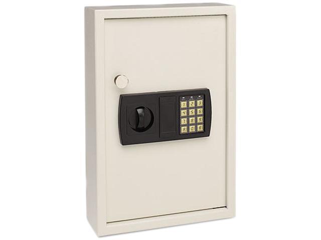 STEELMASTER by MMF Industries 20101 Electronic Key Safe, 48-Key, Steel, Sand, 11 3/4