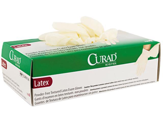 Curad CUR8105 Powder-Free Latex Exam Gloves, Medium, 100/Box