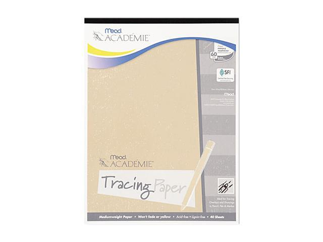 Mead 54200 Academie Tracing Pad, 9 x 12, White, 40 Sheets