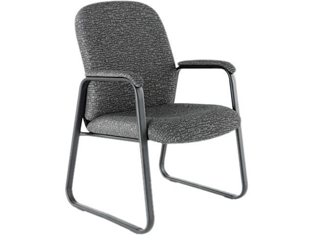 Alera GE43FC40B (ALEGE43FC40B) Genaro Guest Chair, Graphite Fabric, Sled Base
