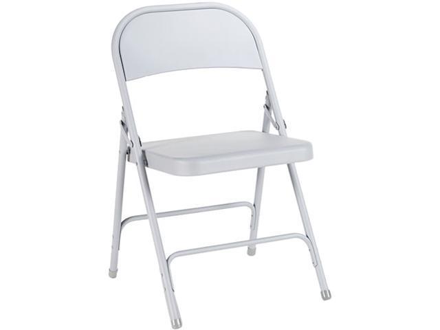 Alera Steel Folding Chair FC94LG (ALEFC94LG) Light Gray, 4/Carton