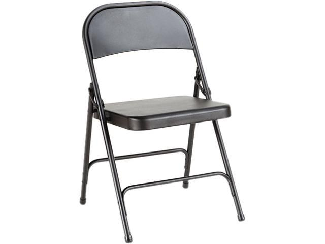 Alera Steel Folding Chair FC94B (ALEFC94B) Graphite, 4/Carton