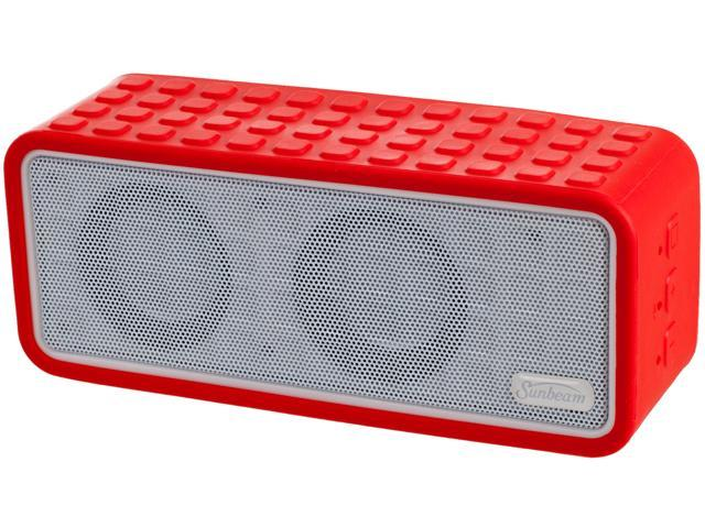 Sunbeam 72-SB1575-RD Rechargeable Bluetooth Conference Speaker w/ Microphone - Red