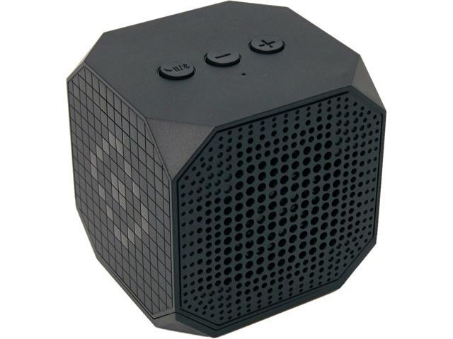 MQbix MQBK3010BLK MUSICUBE Wireless Portable Bluetooth Speaker with Built-In Mic and Rechargeable Battery