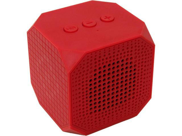 MQbix MQBK3010RED MUSICUBE Wireless Portable Bluetooth Speaker with Built-In Mic and Rechargeable Battery