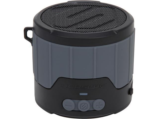 Scosche boomBOTTLE MINI Rugged Weatherproof Wireless Speaker- Gray - BTBTLMGY