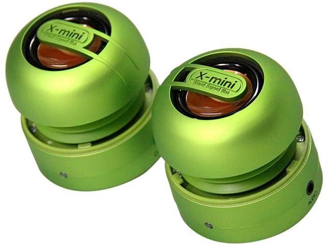 X-Mini MAX XAM15-GR Portable Capsule Speaker System, Stereo, Green