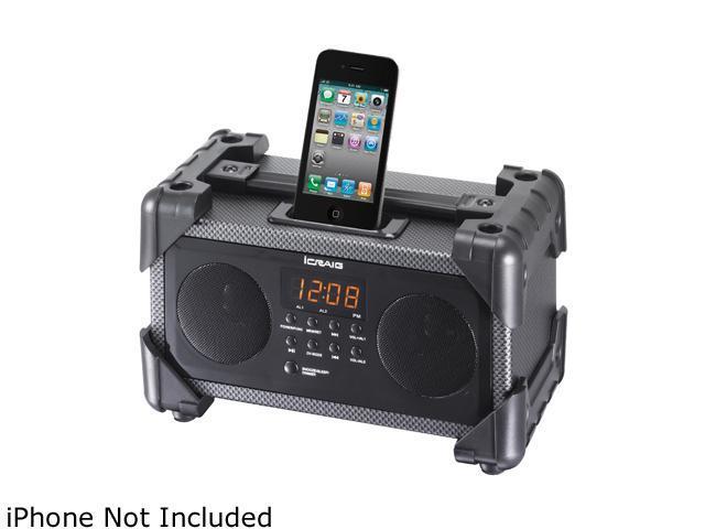 Craig iPod / iPhone Dual Alarm Clock, Digital PLL FM Stereo Radio CMB3228