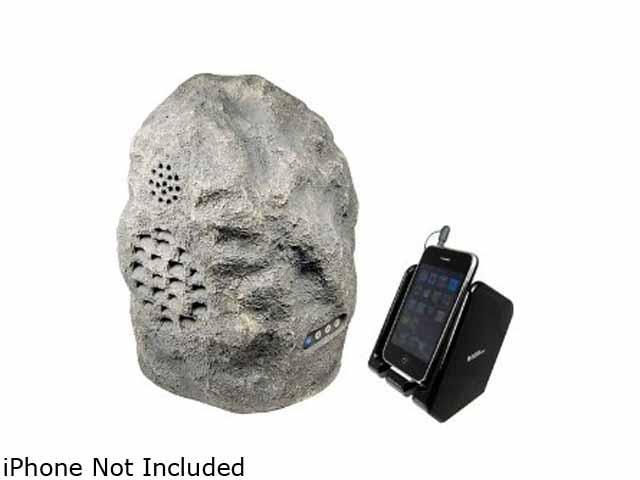 C2G 41306 Granite Wireless Rock Speaker (Rechargeable) with Dual Power Transmitter