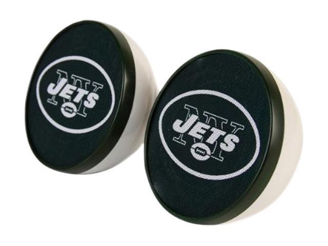 IHIP NFV4000NYJ New York Jets Speaker Set Nfl Front Logo