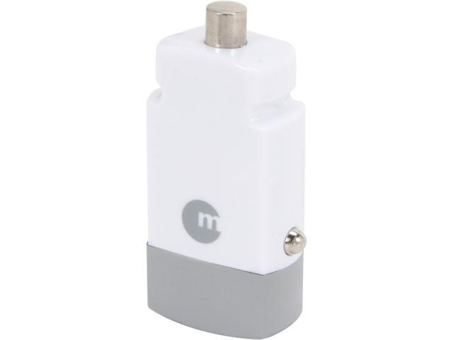 Macally MiniCarUSB White Portable Micro USB Car Charger for iPhone