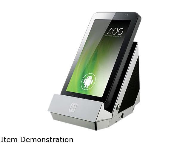 ihomeaudio IC3 Portable Speaker System with Android Dock Silver