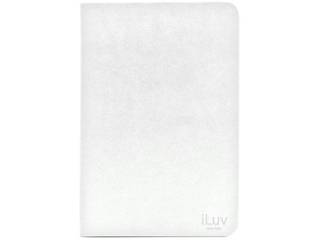 iLuv ICA8J347WHT Pocket View Folio Jacket for iPad mini White