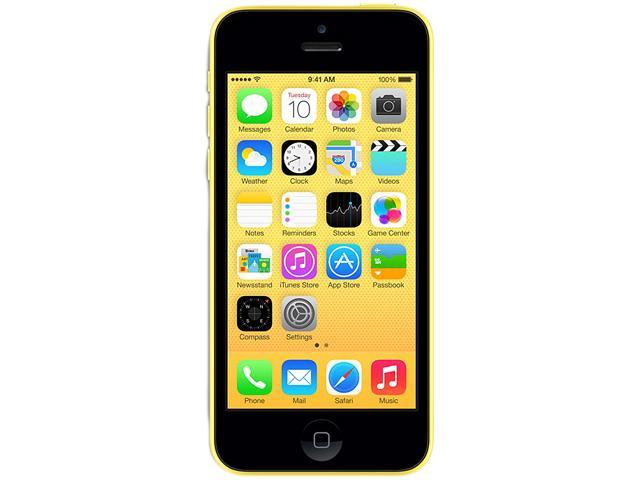 Apple iPhone 5C Yellow 3G 4G LTE Dual-Core 1.3GHz Unlocked Cell Phone