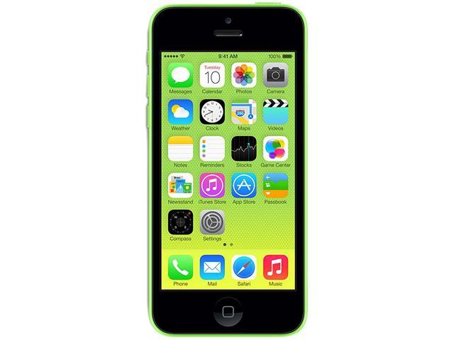 Apple iPhone 5C Green LTE Dual-Core 1.3GHz Unlocked Cell Phone