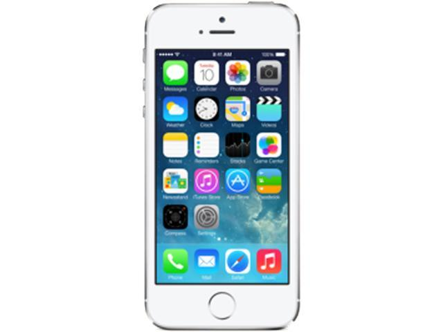 Apple iPhone 5S Silver 3G 4G LTE Dual-Core 1.3GHz 16GB Unlocked GSM iOS Cell Phone ME297C/A