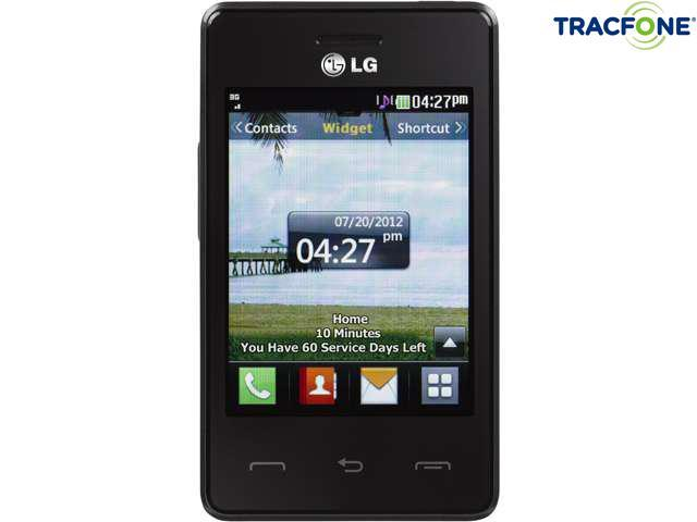 LG 840G Tracfone Cell Phone with 1 Year Tracfone Service, 1200 Minute (400 Minute Airtime Card) & Triple Minutes for Life