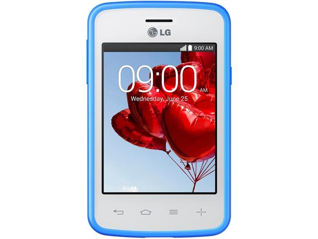 LG L30 Sporty Dual D125g White/Blue 3G Dual-Core 1.0GHz Unlocked GSM Android Phone