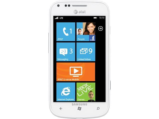 Samsung Focus 2 I667 White 4G Single-Core 1.4GHz 8GB Unlocked GSM Windows Phone 7 Cell Phone