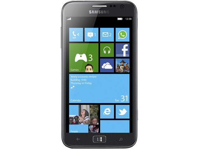 Samsung ATIV S T899 3G Cell Phone - Dual-Core 1.5GHz, 16GB, AT&T Unlocked GSM - Windows 8 - Gray