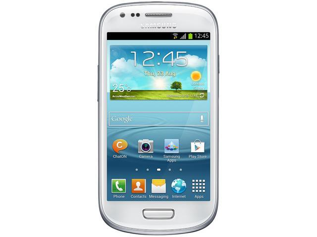 Samsung Galaxy S3 Mini I8200 White Dual-Core 1.2GHz 8GB Value Edition Unlocked GSM Phone