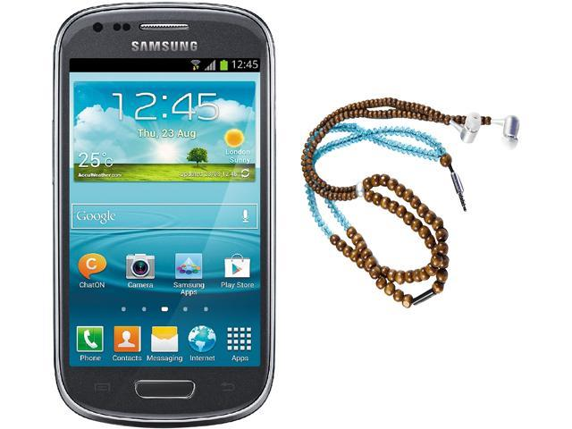 Samsung Galaxy S3 Mini I8200 Gray Dual-Core 1.2GHz Unlocked Cell Phone + HandCandy - The YOGI Bundle