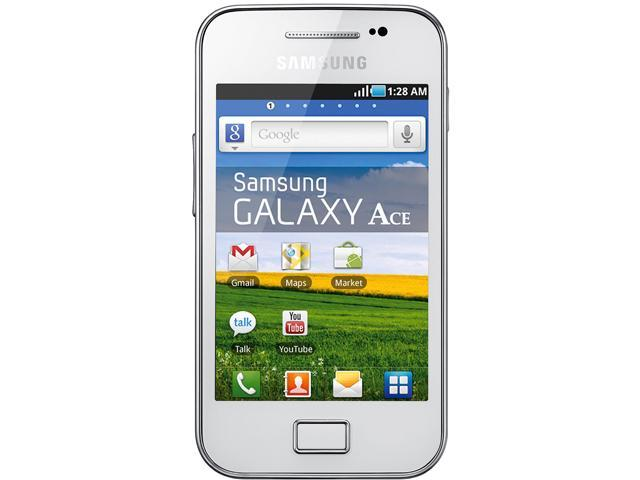 Samsung Galaxy Ace S5831 White 800MHz Unlocked GSM Android Cell Phone