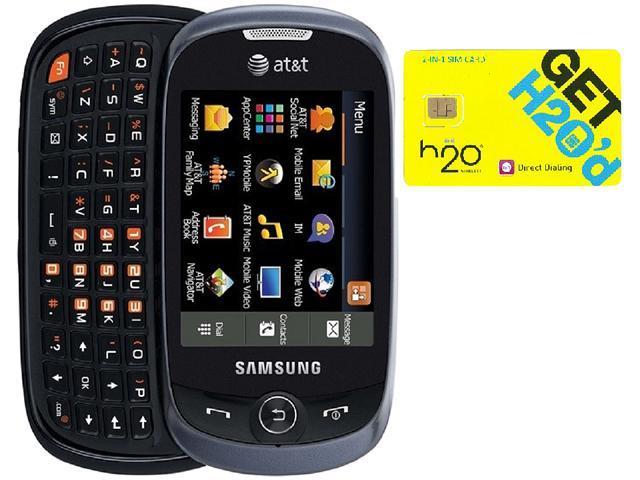 Samsung Flight II A927 Grey QWERTY Slider Phone + H2O $40 SIM Card