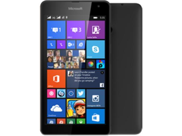 Microsoft Lumia 535 Black Quad-Core 1.2GHz Unlocked Cell Phone