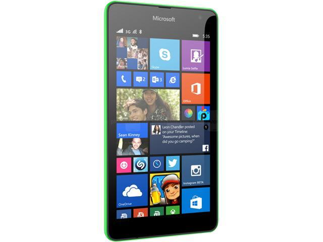 Microsoft Lumia 535 White Quad-Core 1.2GHz Unlocked Cell Phone
