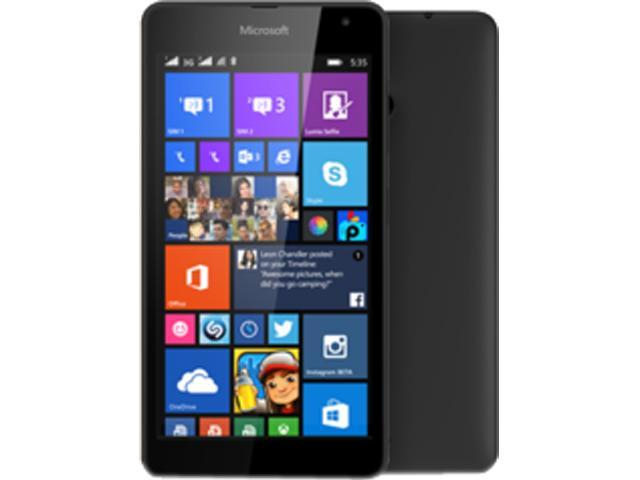 Microsoft Lumia 535 Dual SIM Black Quad-Core 1.2GHz Unlocked Cell Phone