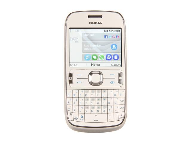 Nokia Asha 302 White 3G Single-Core 1.0GHz Unlocked GSM QWERTY Smart Phone with Wi-Fi / Bluetooth / 3.2 MP Camera / 2.4