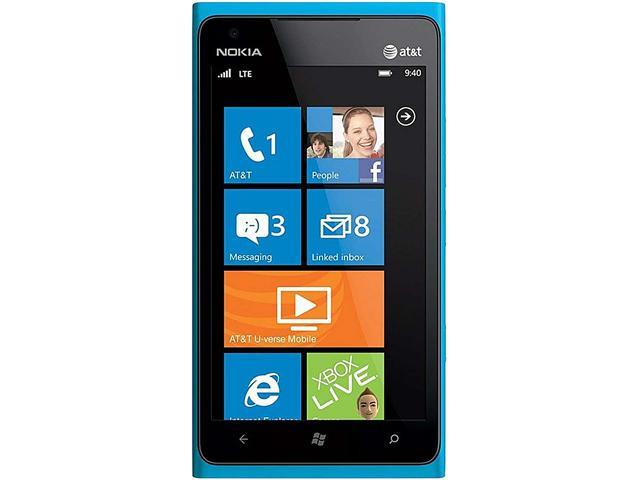 Nokia Lumia 900 Blue 3G 4G LTE 1.4GHz 16GB 8.0 MP Camera Unlocked GSM Smart Phone