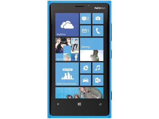Nokia Lumia 920 Blue 3G 4G LTE Dual-Core 1.5GHz 32GB Unlocked Cell Phone