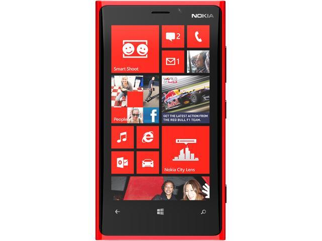 Nokia Lumia 920 Red 3G 4G LTE Dual-Core 1.5GHz 32GB Unlocked Cell Phone