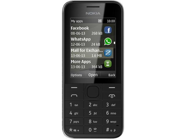 Nokia 208.3 Black RM-950 NV LTAU1 Unlocked Cell Phone