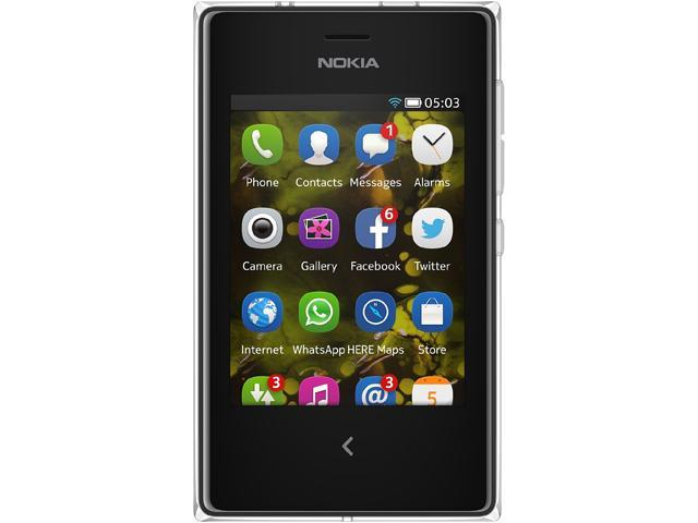 Nokia Asha 503 White/Black Unlocked GSM Cell Phone