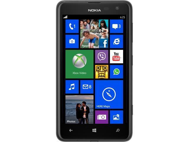Nokia Lumia 625 Black 4G LTE Dual-Core 1.2GHz Unlocked Cell Phone