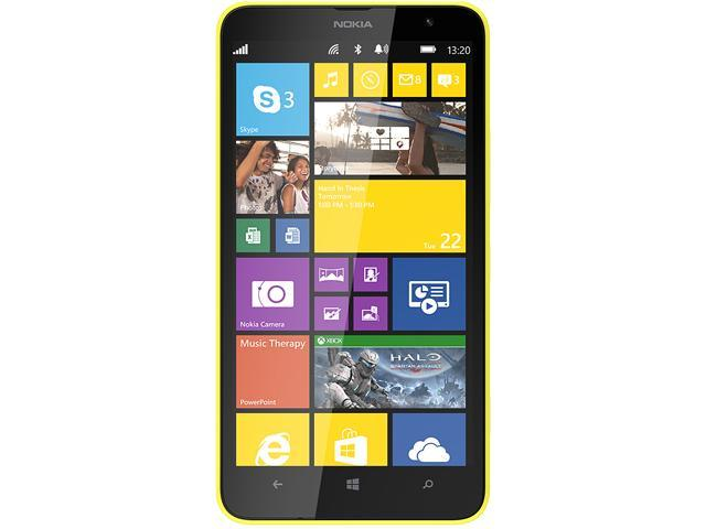 Nokia Lumia 1320 Yellow 4G LTE Dual-Core 1.7GHz Unlocked Cell Phone