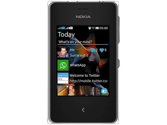 Nokia Asha 500 Black Unlocked Cell Phone