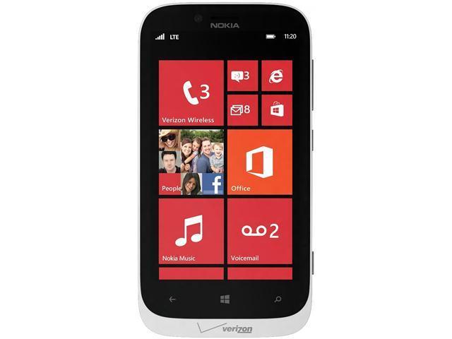 Nokia Lumia 822 White 4G LTE Dual-Core 1.5GHz GSM Unlocked + Verizon CDMA 4G LTE Windows Phone