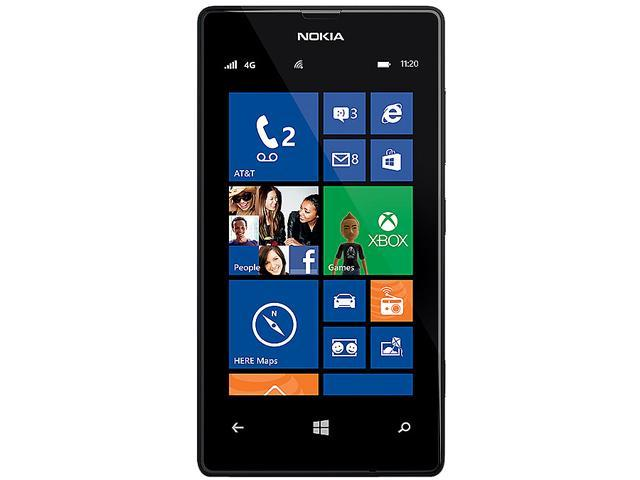 Nokia Lumia 520 Black HSPA+ Dual-Core 1.0GHz AT&T Unlocked Cell Phone
