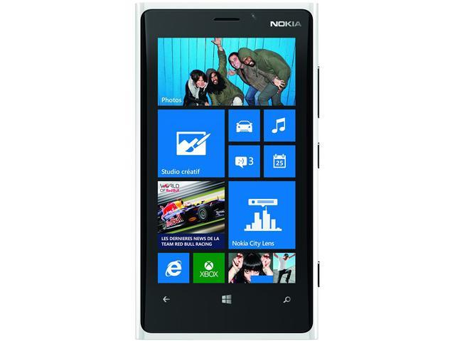 Nokia Lumia 920 RM-820 White 3G 4G LTE Dual-Core 1.5GHz 32GB AT&T Unlocked GSM Windows 8 Phone