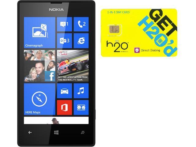 Nokia Lumia 520 RM-915 Black 8GB Windows 8 OS Phone + H2O $30 SIM Card