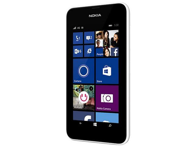 Nokia Lumia 530 White 3G Quad-Core 1.2GHz Unlocked Cell Phone