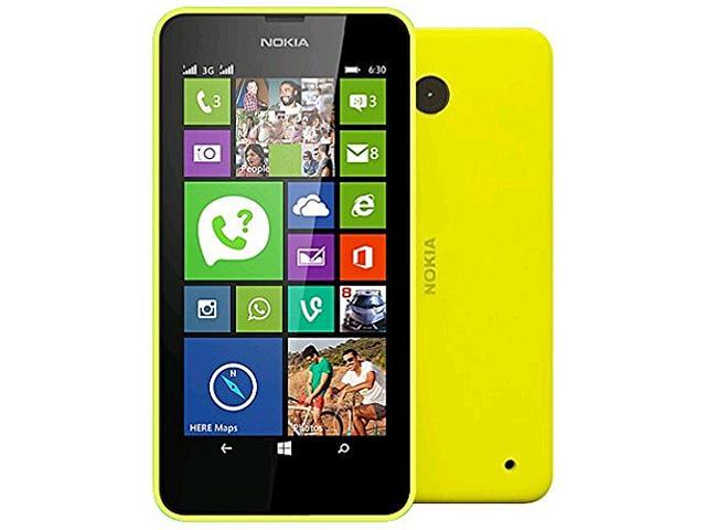 Nokia Lumia 630 Yellow 3G Quad-Core 1.2GHz Unlocked Cell Phone